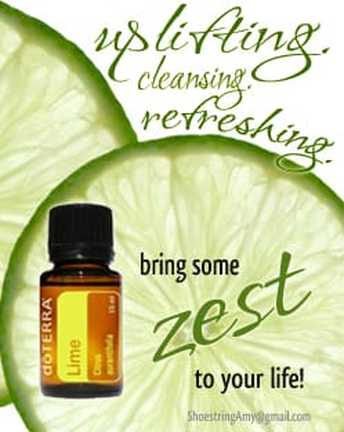 Lime essential oil is good for uplifting your spirit, cleansing your mind of negativity, and bringing a new clean and positive perspective to a situation.